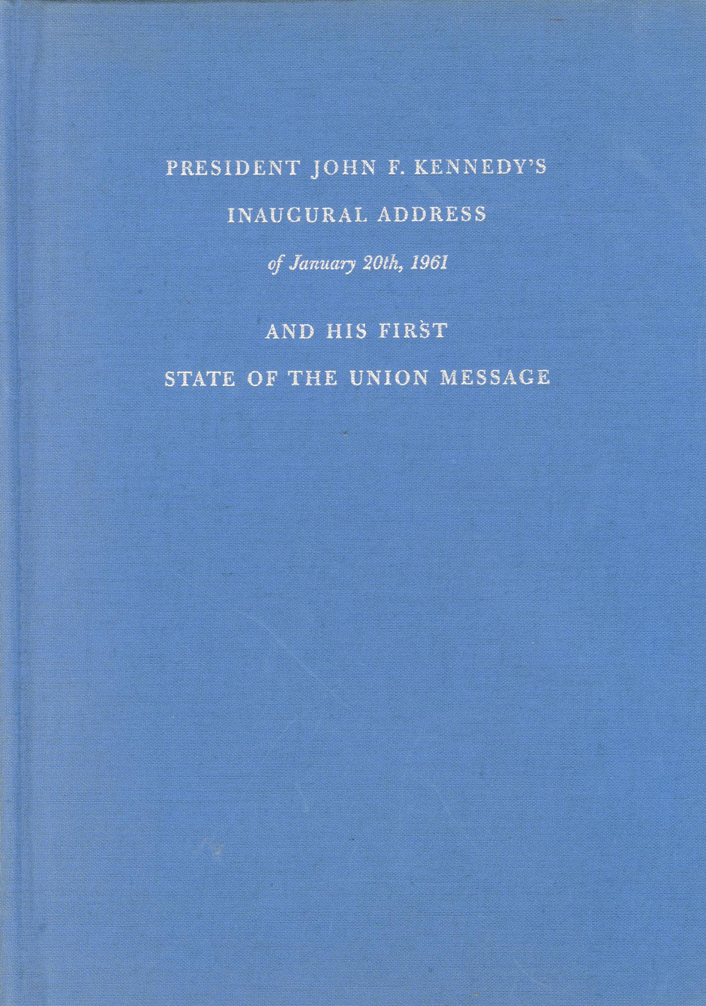 John Kennedy Document Signed Inaugural Address