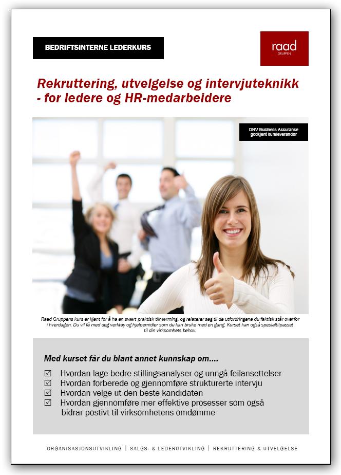 Kurs i rekruttering og utvelgelse