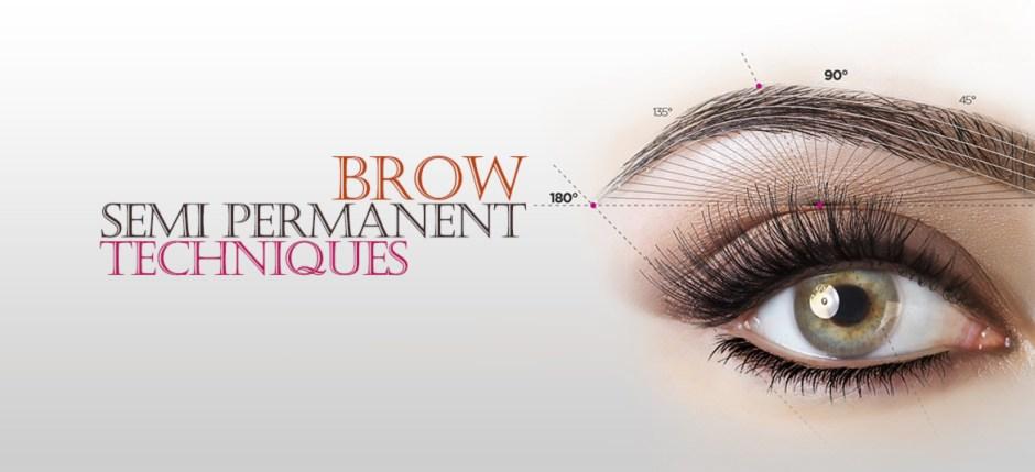 semi permanent eyebrow techniques
