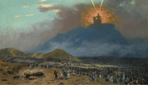 Moses on Mount Sinai Painting