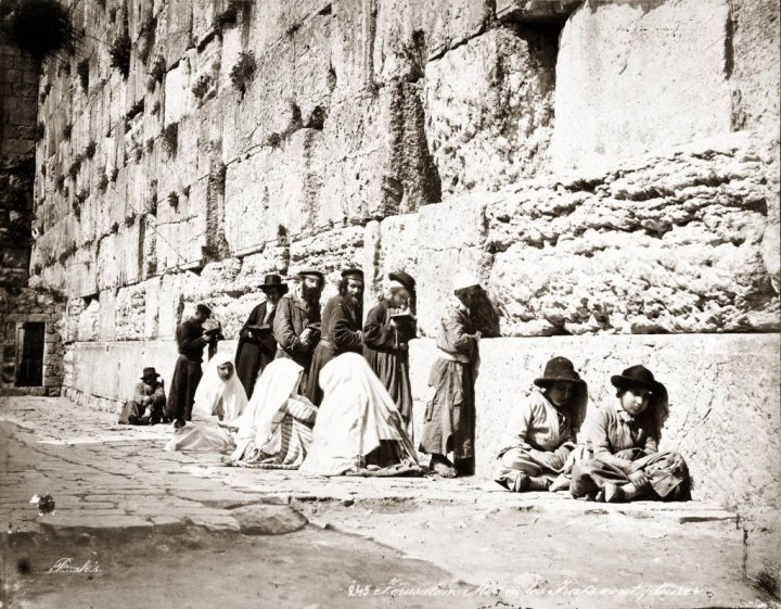 Jews worshipping at the Western Wall c.1870