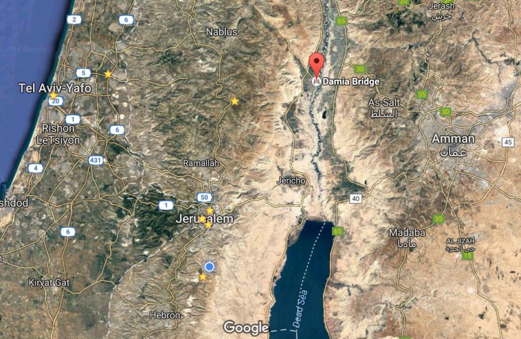 adam-bridge-map Jordan valley