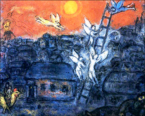 painting jacob's ladder by mark chagall