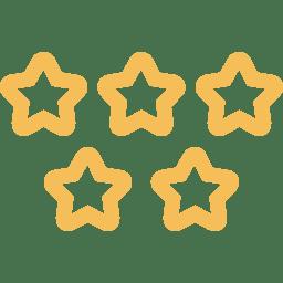 five-stars-quality-symbol-icon-orange