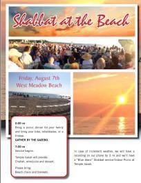 Temple Isaiah Shabbat at the Beach