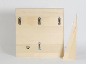 Siebträgerhalter, Siebträgerwandhalter Ahorn Klein Rückseite Rabbit Espressodesign