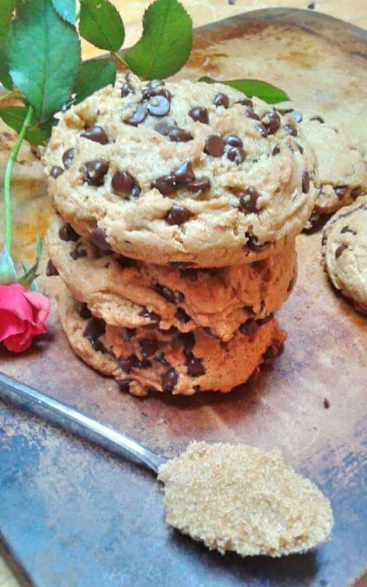 Vegan Soft Batch Cream Cheese Chocolate Chip Cookies - Rabbit and ...