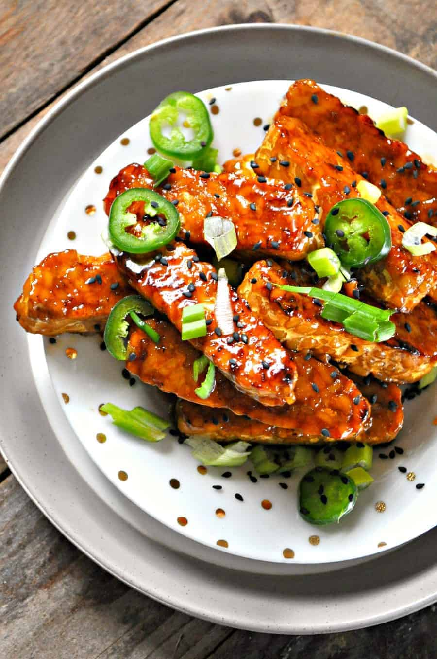Vegan polynesian tempeh wings rabbit and wolves these polynesian tempeh wings satisfy all my cravings they are nice and crispy golden brown on the outside firm but tender inside forumfinder Image collections