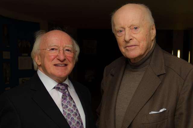 President Higgins & George Morrison