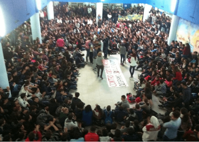 Occupation Assembly at Italian school