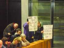 Protestors at Athlone Town Council supporting artist Shane Cullen