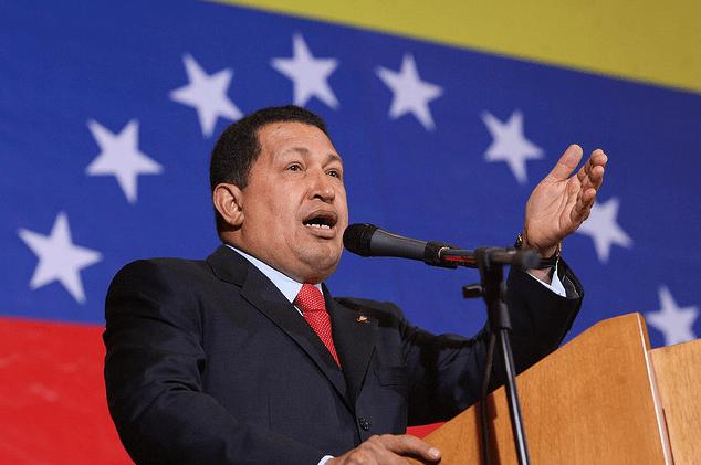 Venezuelan President Hugo Chavez (photo Bernardo Londoy)