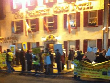 CAWHT protestors at Enda Kenny dinner in Kells