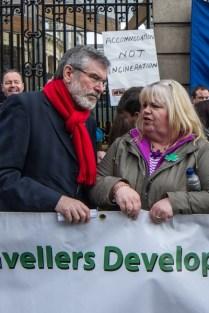 Gerry Adams & an ITM member from Clondalkin