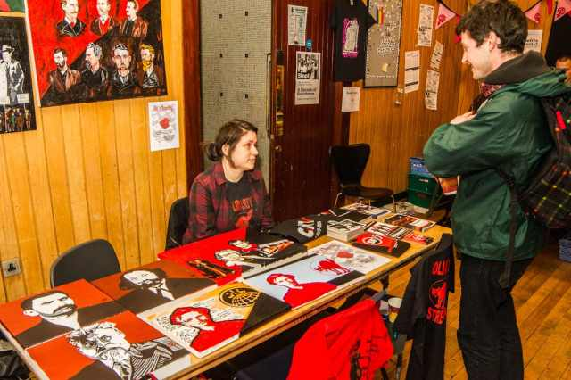 Stalls at the Anarchist Boofair