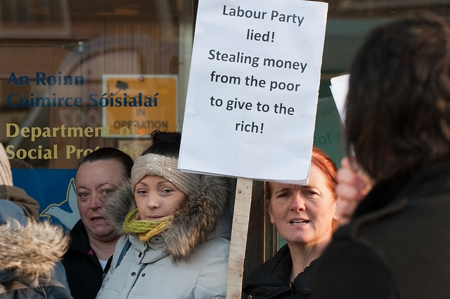 file: Protest at Joan Burton's office © Paul Reynolds