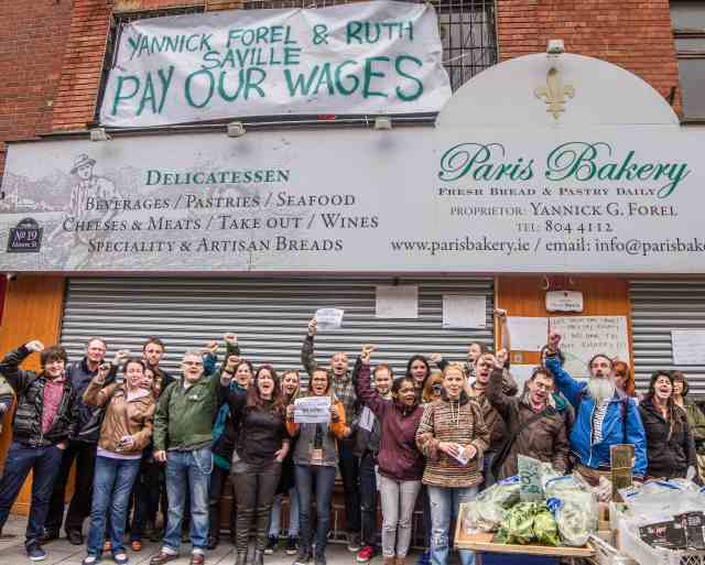 Paris Bakery workers and supporters at Moore St. (photo Paul Reynolds)