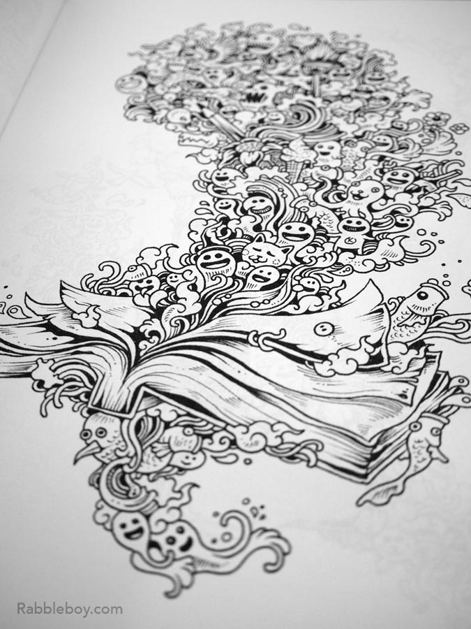 Doodle Invasion, A Crazy Coloring Book by Kerby Rosanes - Rabbleboy ...