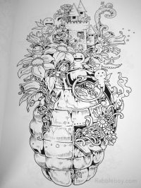 Doodle Invasion, A Crazy Coloring Book by Kerby Rosanes ...