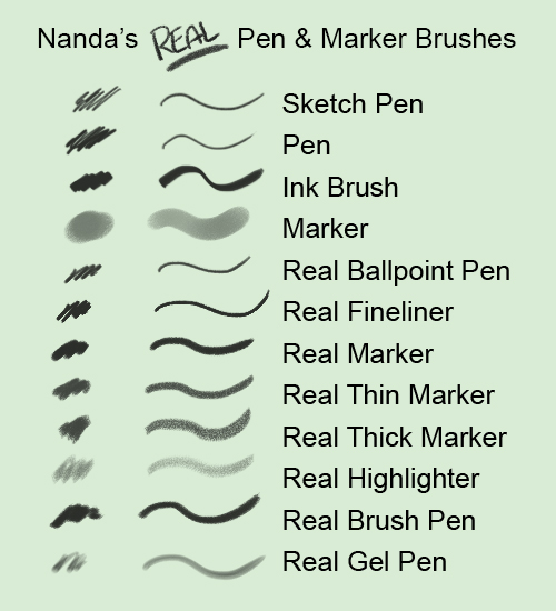 nanda_s_real_pen_and_marker_brushes_for_photoshop_by_slcnaz-d67j37s