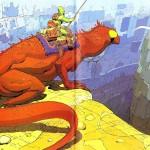 Moebius Lizard Rider