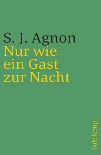 Cover Agnon_Nur_wie_ein_Gast_zur_Nacht