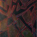 "Giovanni Spezzacatena - Rabideye Fine art ""Night Shards"" 8""x24""x2"" on cradled wood panel - mixed media"
