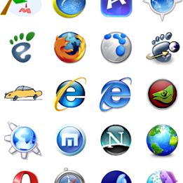 List of Popular Web Browsers Icons