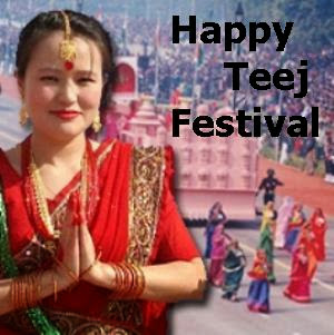 A NEPALESE WOMEN'S NAMASTE GREETING - A VERY HAPPY TEEJ