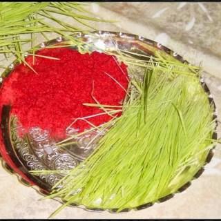 Rato Tika and Jamara on Thali /Happy Vijaya Dashami of 2017