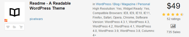 Readme WP Responsive RabinsXP HTML5 & CSS3 Website Template - Price