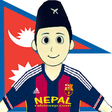 FC Barcelona Home Fan From Nepal - Nepalese Flag - PNG