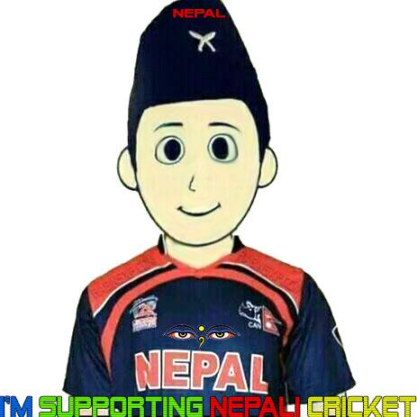 I'm Supporting Nepali Cricket-eyes