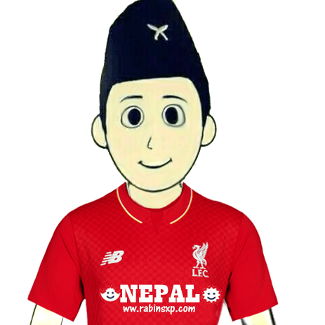Liverpool FC Fan From Nepal - Without Flag - With Star and Moon-PNG