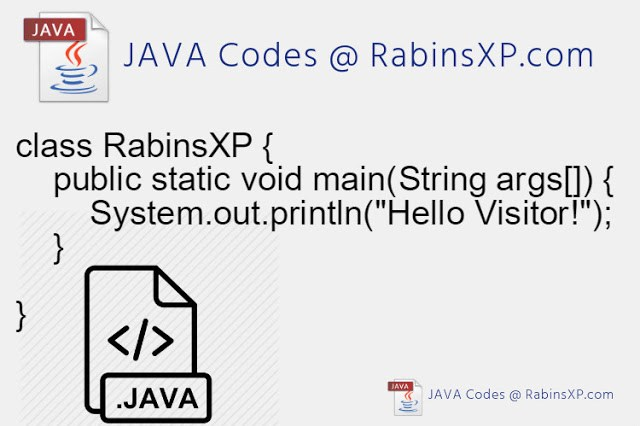 Java Codes @ RabinsXP