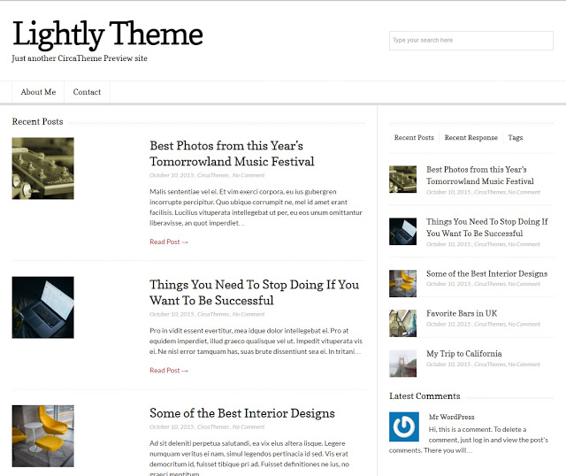 LIGHTLY Responsive Blog Magazine Theme
