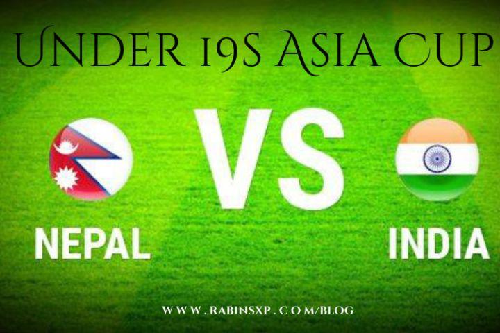 India Under-19s Vs Nepal Under-19s