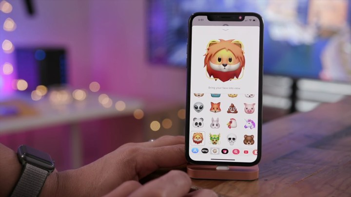 Four new Animoji: Bear, Dragon, Lion, and Skull