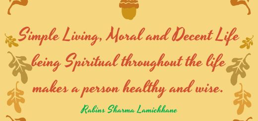 Simple Living - Lamichhane quotes