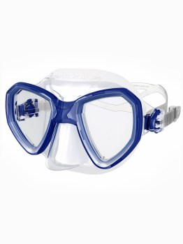 Blue and clear diving mask