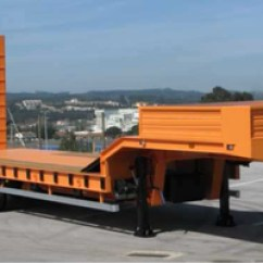 Semi Trailers For Sale In Germany Dvc Wiring Diagram Different Types Of Low Bed High Quality And Reliable Make 3 Axles Lowboy Trailer Rac