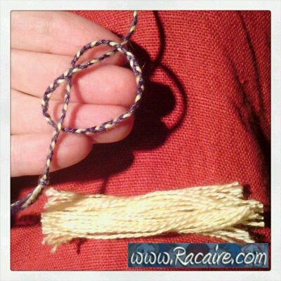 Craft with Racaire - Project 1 - Needle-roll 1 - fast and easy tassels_01