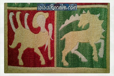 Racaire - 14th century French pouch commission - medieval embroidery