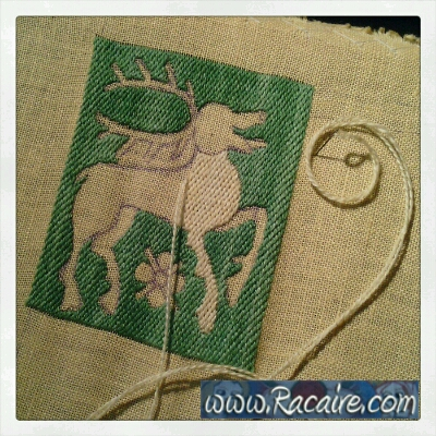Working at an embroidered 14th century pouch for the 9th blog-birthday raffle .3 - just 9 days left! :D