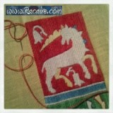 Racaire - Working at an embroidered 14th century pouch for the 9th blog-birthday raffle .7 - just 4 days left! :D