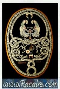 2016-09 - Racaire - Kail's viking knighting scroll - SCA knighting scroll - runes - ravens - viking
