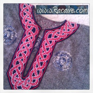 12th century inspired embroidery - Medieval embroidery