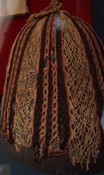 Sprang Hairnet Krokodilopolis/Arsinoë, 5th century AD Linen & Wool Bode Museum