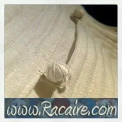 2015-11 - Racaire - 12th century underdress - white silk - hand sewn - Trapunto