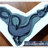 ...and a new little dragon stamp cut - medieval inspired block printing stamp IV